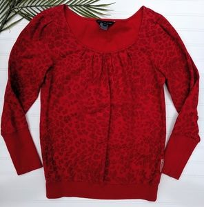 French Connection Red Leolpoard Print Sweatshirt